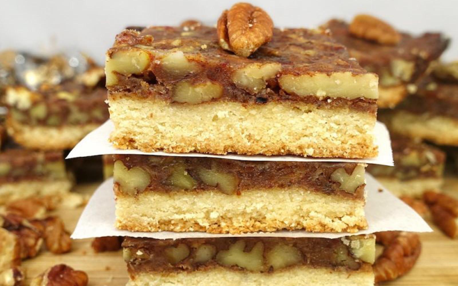 Vegan soy-free refined sugar free Gluten-Free Paleo Pecan Pie Bars