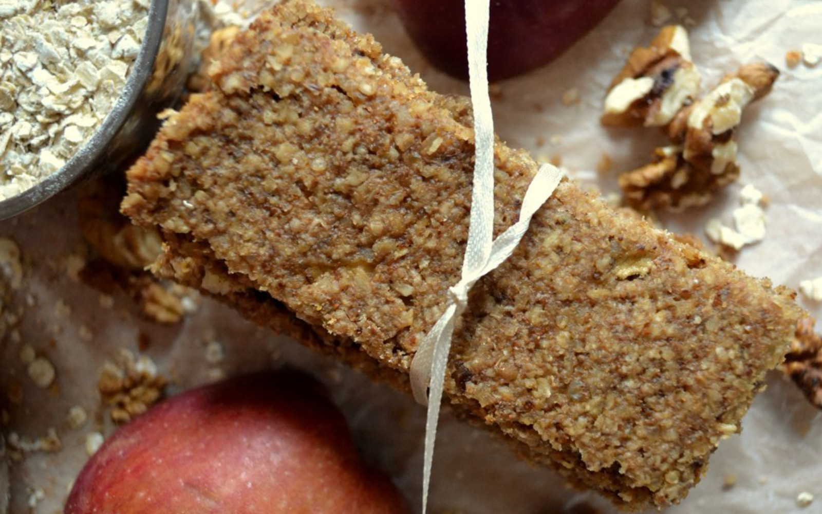 Vegan Gluten-Free Apple Walnut Bars with oats