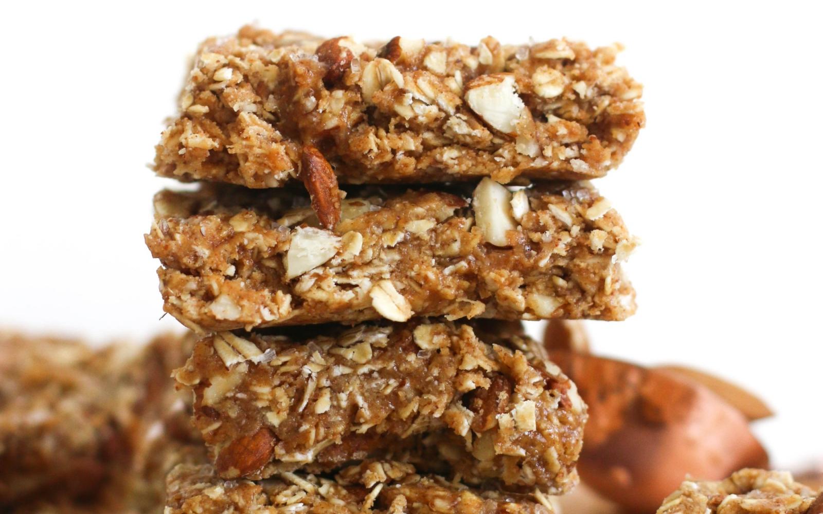 Vegan No Bake Maple Almond Bars