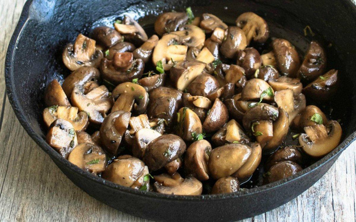 Beer Butter Mushrooms