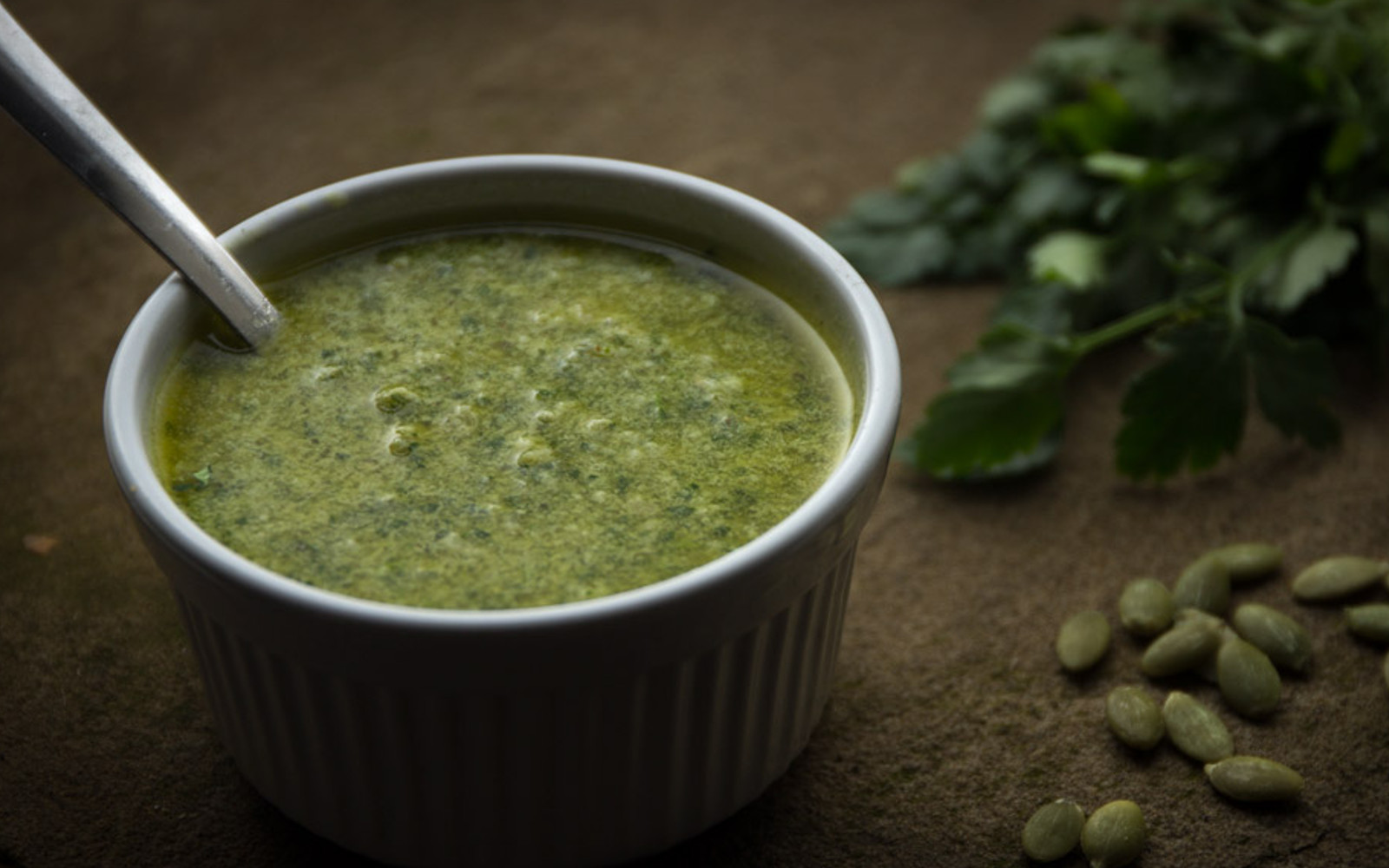 Vegan Grain-Free Parsley Pumpkin Seed Pesto