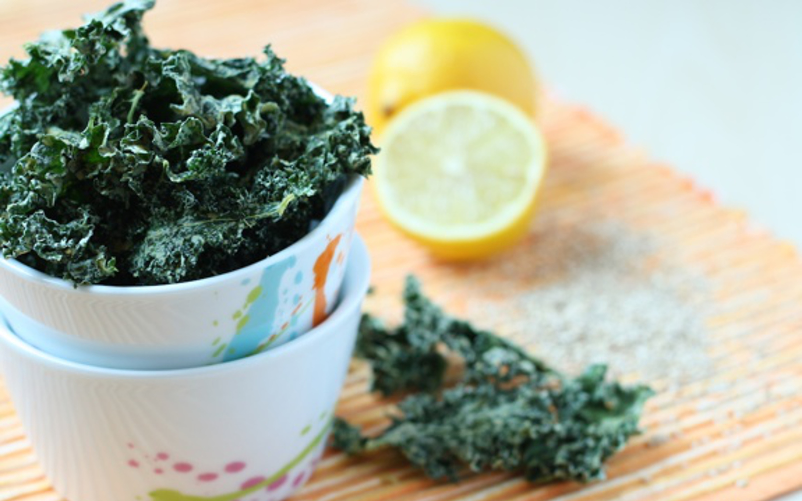 Vegan Raw Lemon Tahini Kale Chips