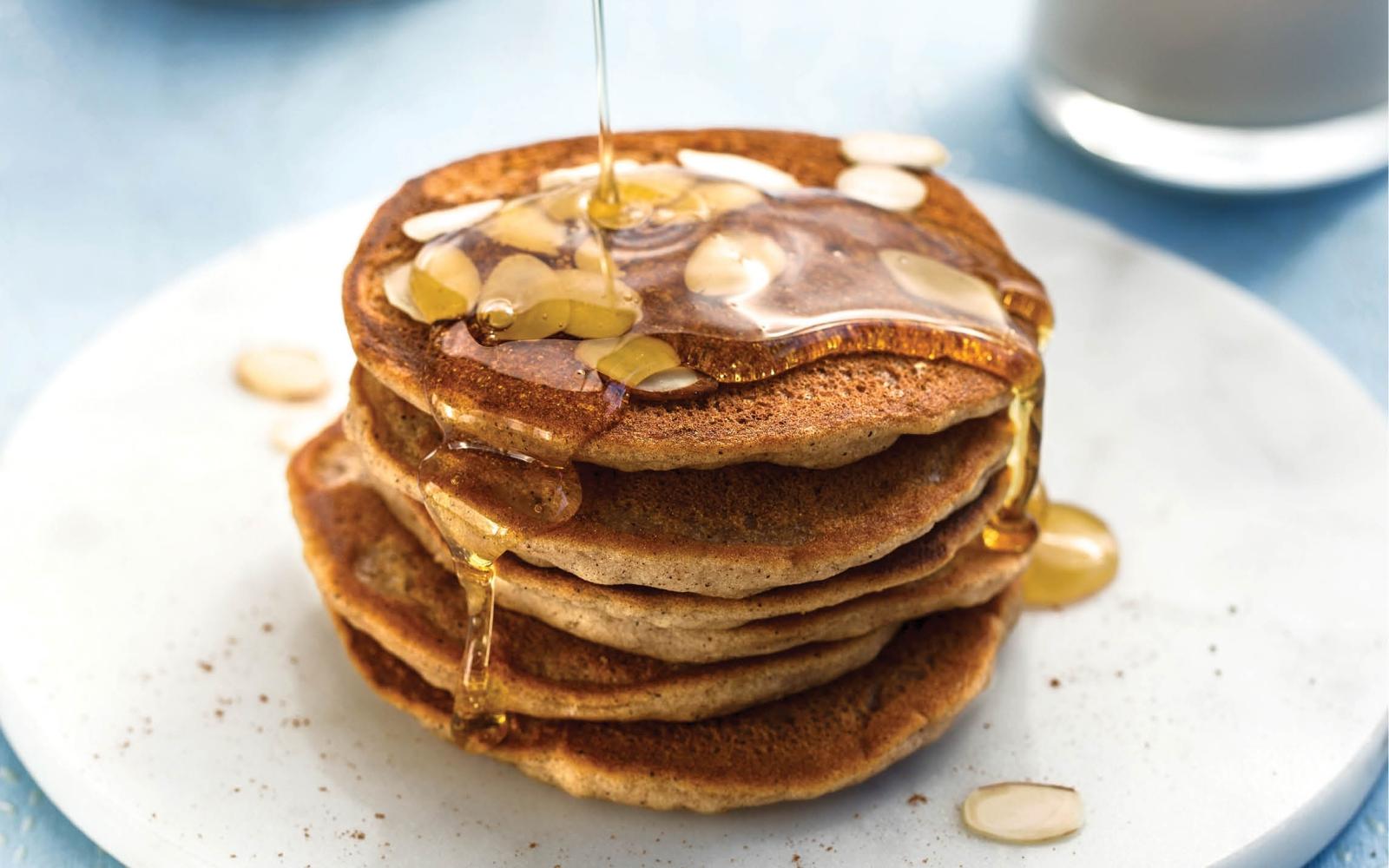 horchata-flavored mochi pancakes
