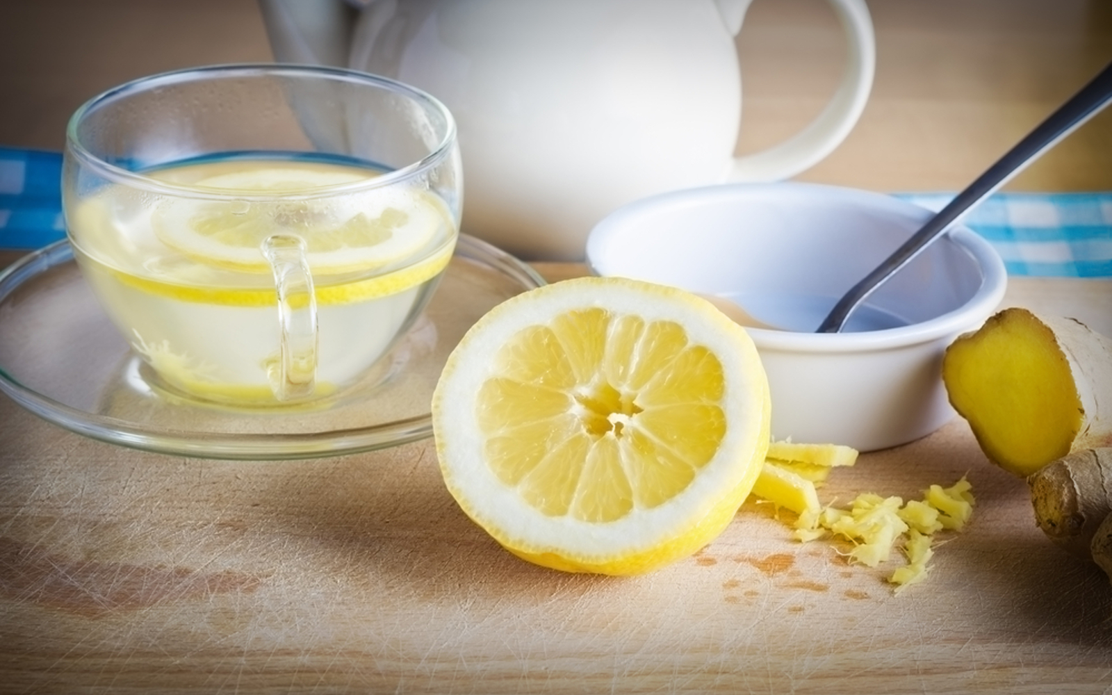 Warm Lemon Water with Ginger