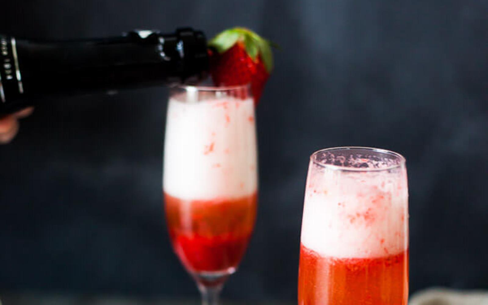 Vegan Easy Strawberry Champagne