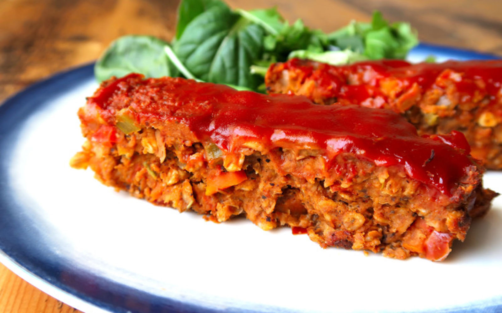 tempeh and lentil meat loaf
