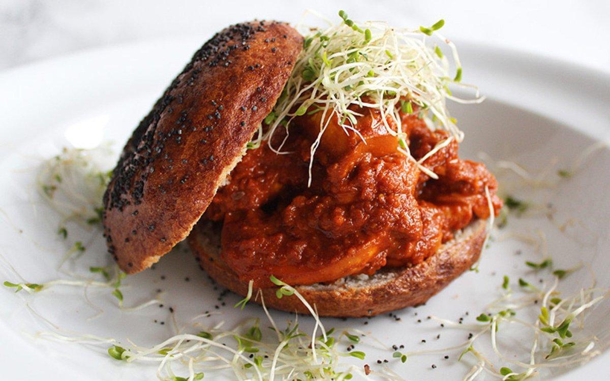 Marinated Tomato Mushroom Bagels