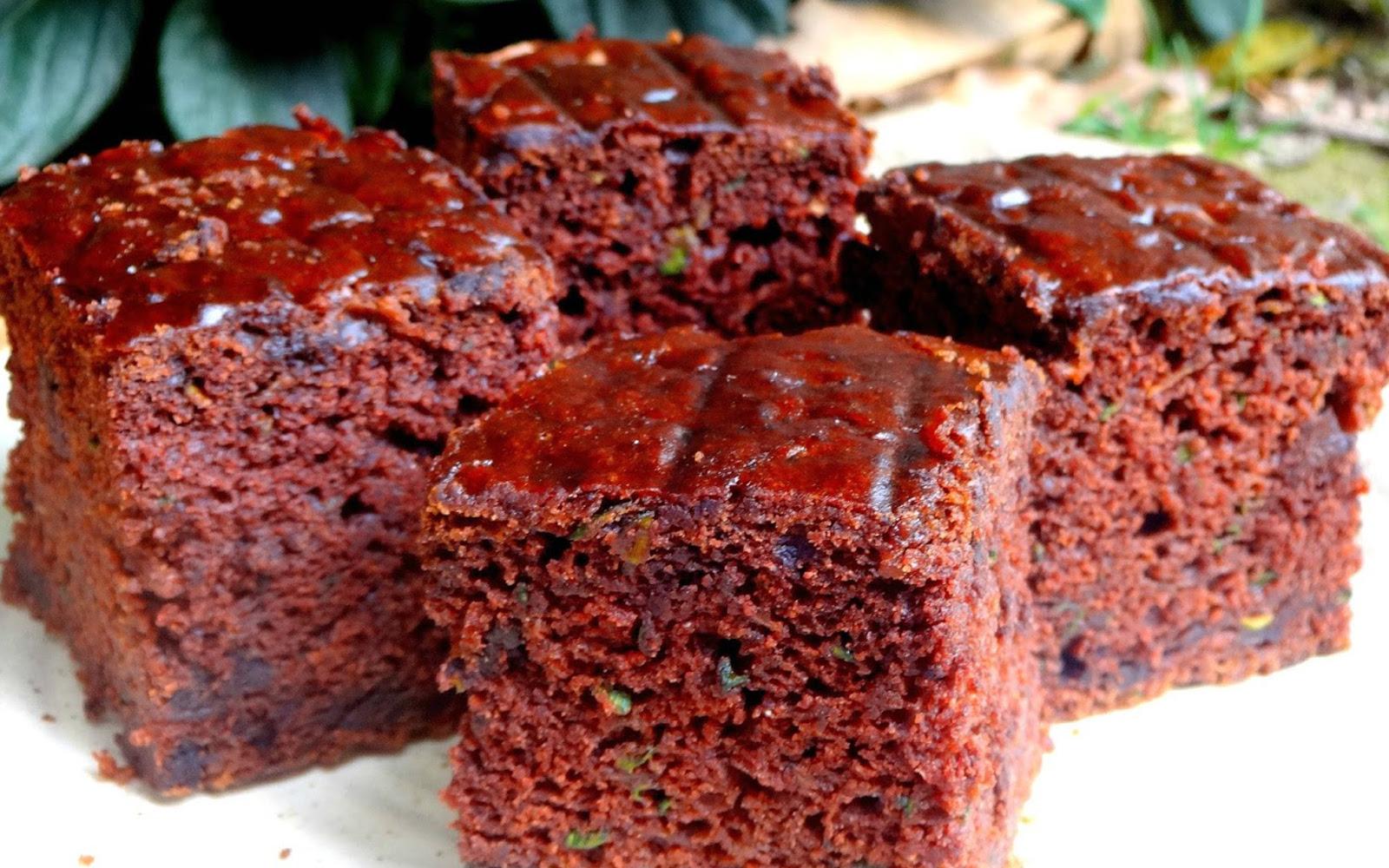 Vegan Low-Fat Wholegrain Zucchini Chocolate Brownies