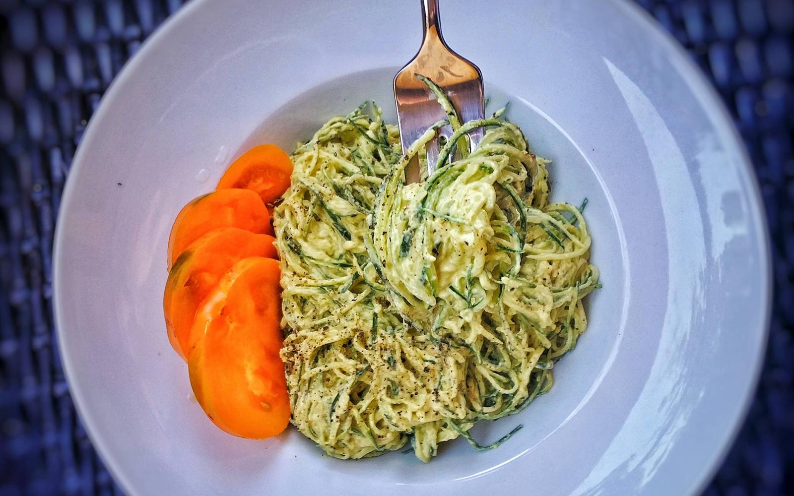Cauliflower Zucchini Noodle Alfredo