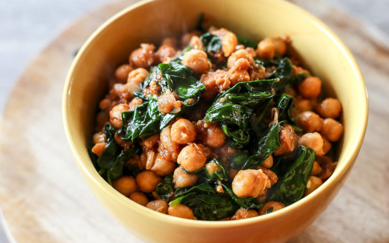 Vegan Espinacas con Garbanzos: Spinach with Chickpeas GLuten-Free