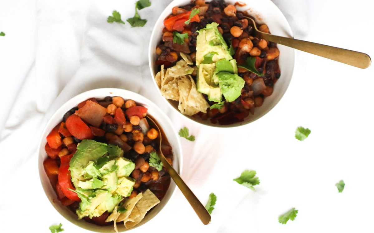 One pot Spicy 3-bean chili