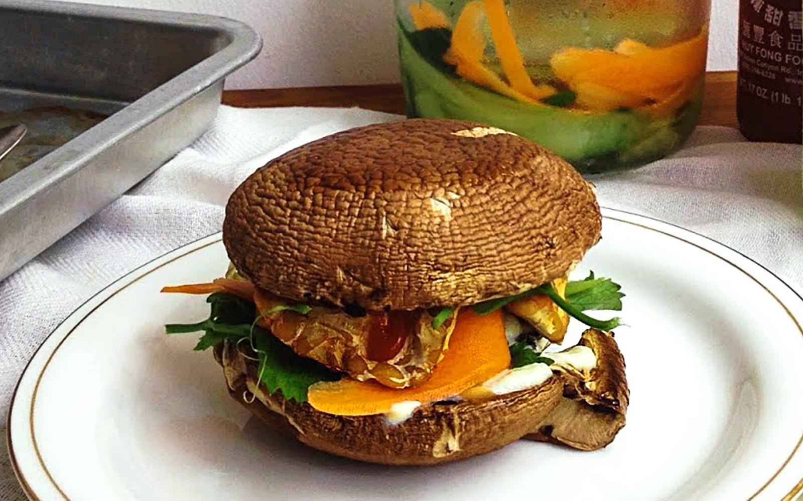 bahn mi portobello burger