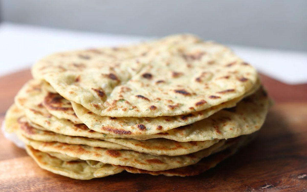 Vegan Garlic and Herb Chickpea Flatbread Tortilla