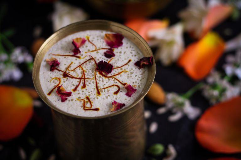 Vegan Instant Thandai Masala Mix in beverage