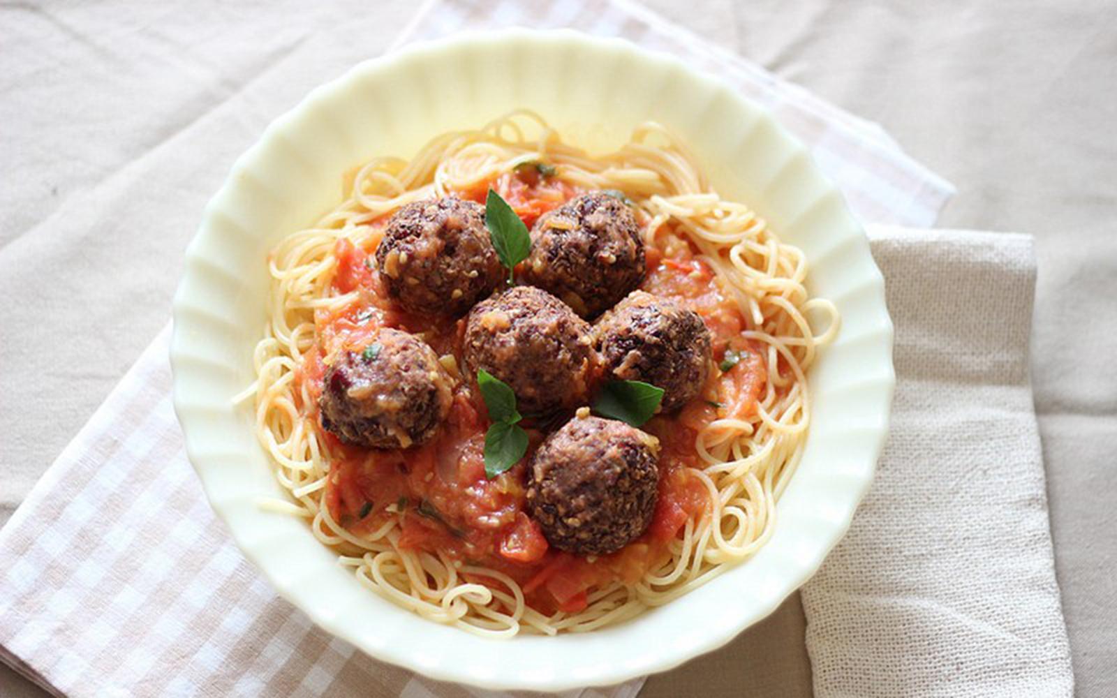 Red Bean Meatballs [Vegan]