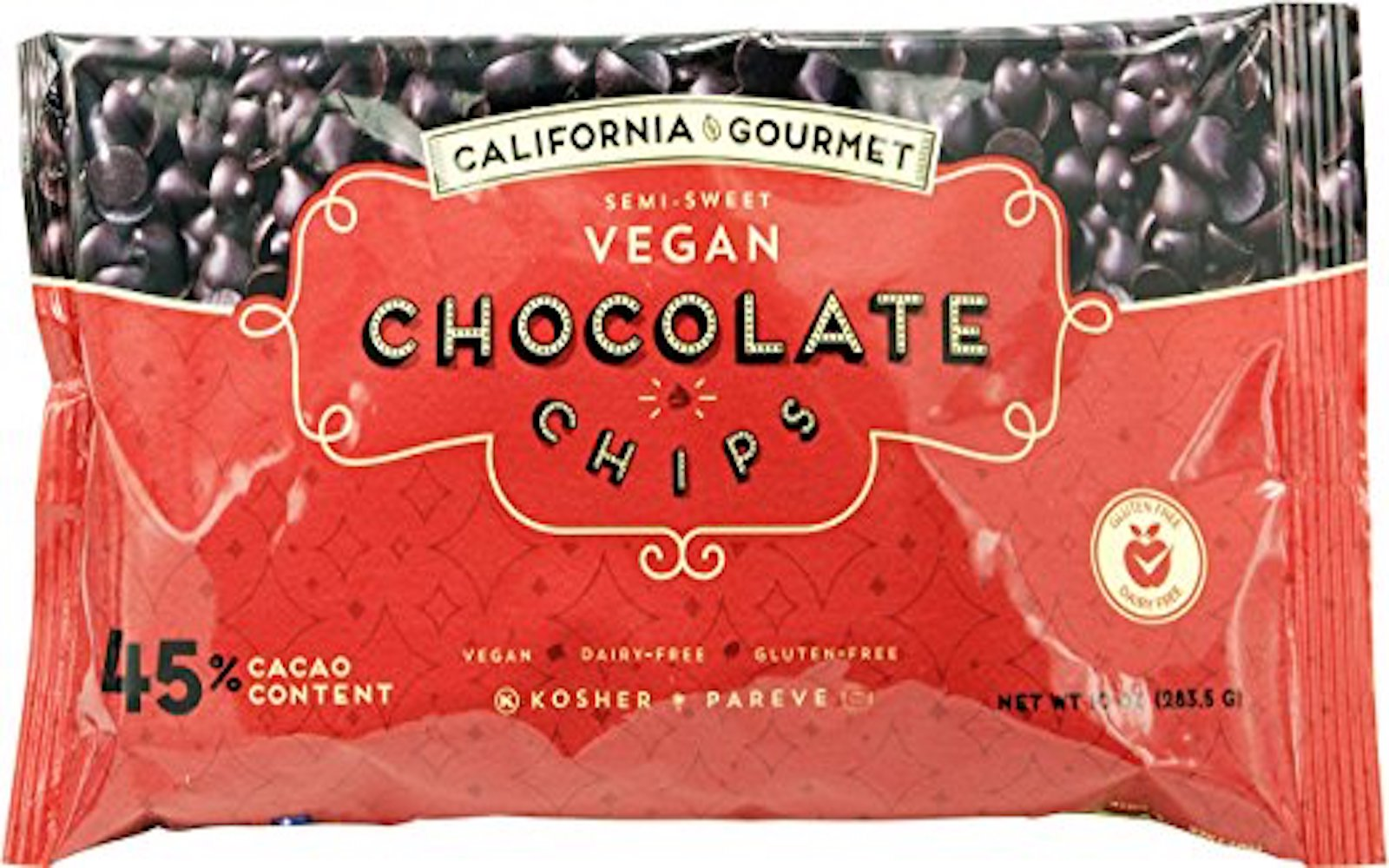 california gourmet chocolate vegan chips