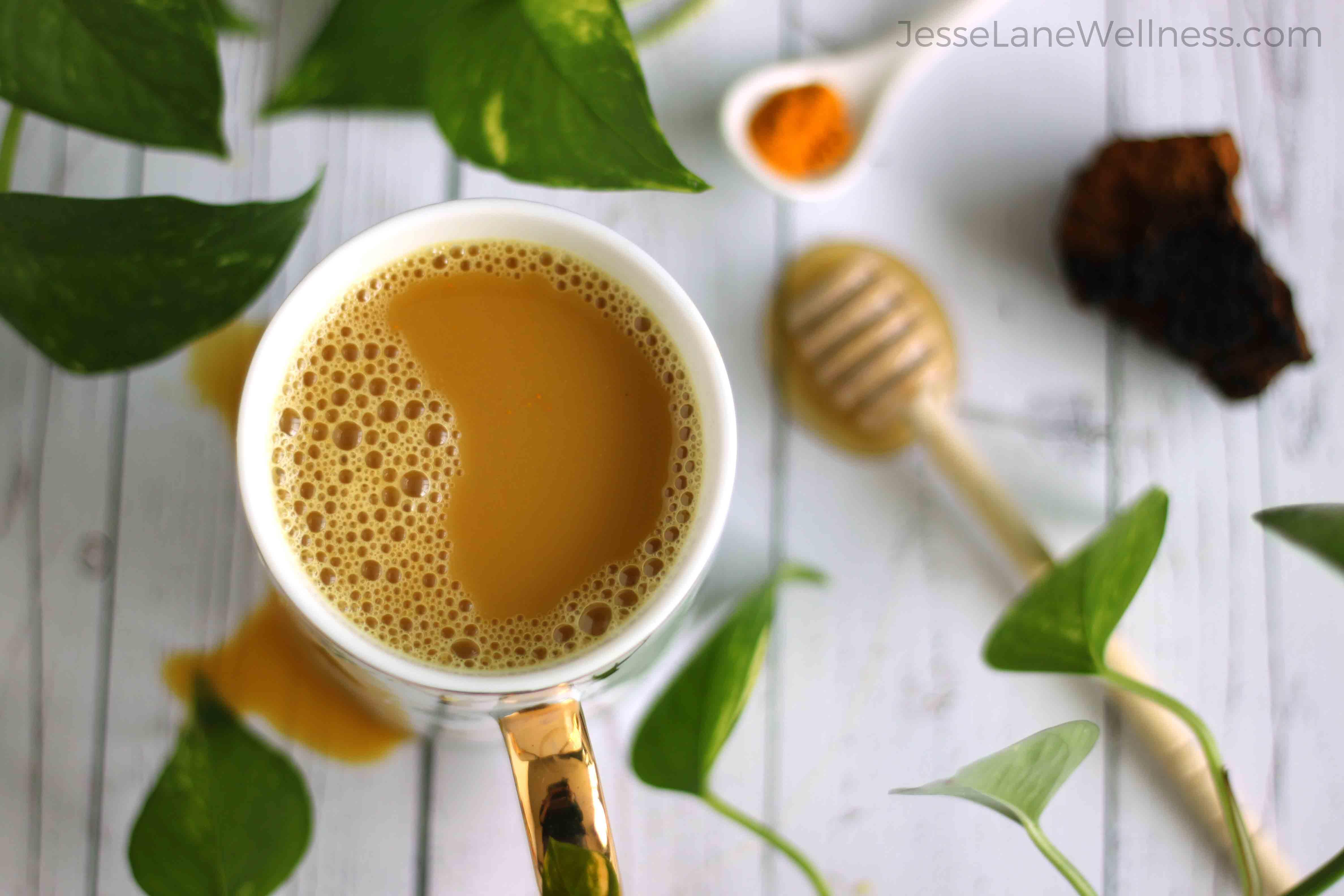 Golden chaga latte