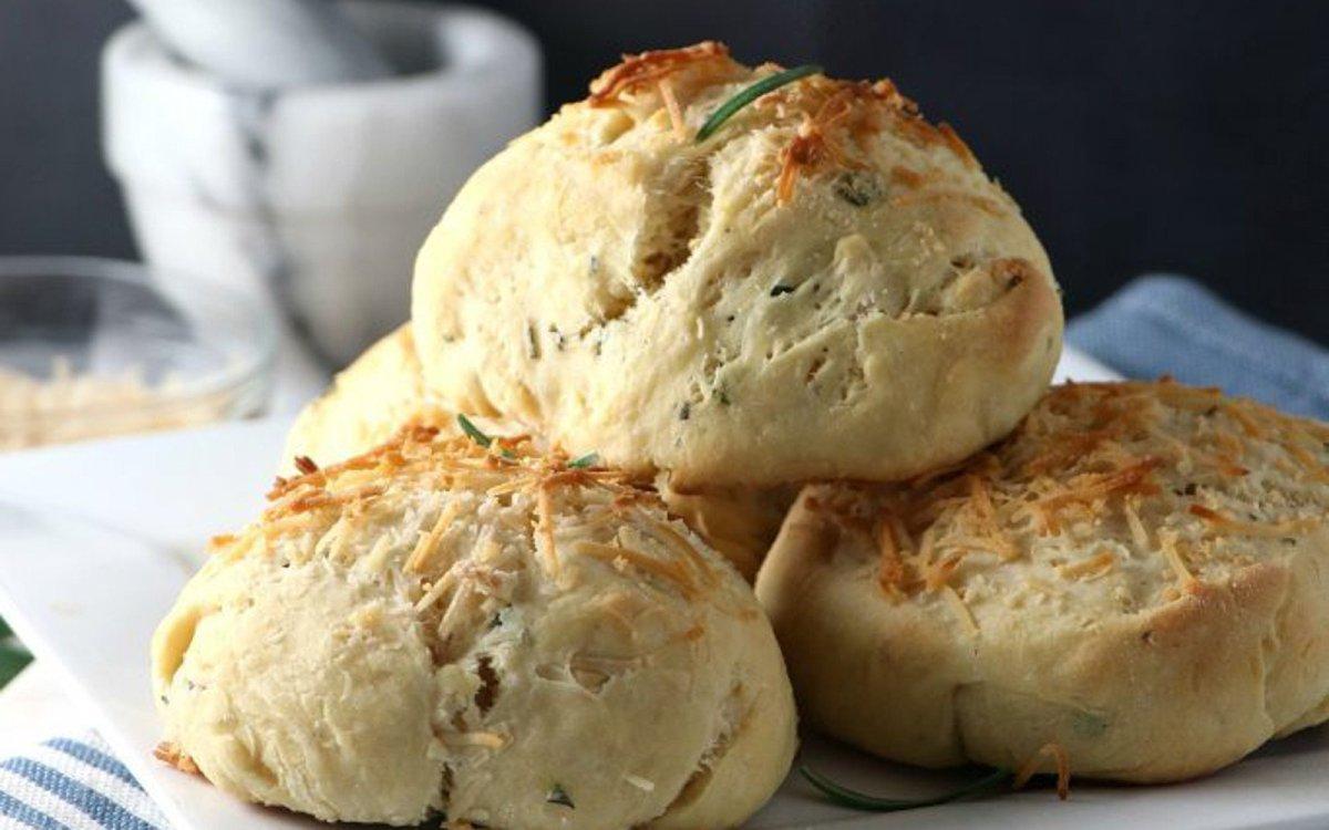 Vegan Rosemary and Parmesan Biscuits