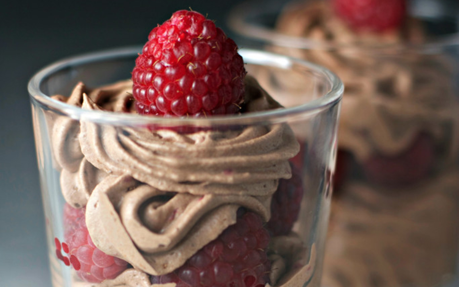 Cacao Mousse and Raspberry Parfaits [Vegan, Gluten-Free]