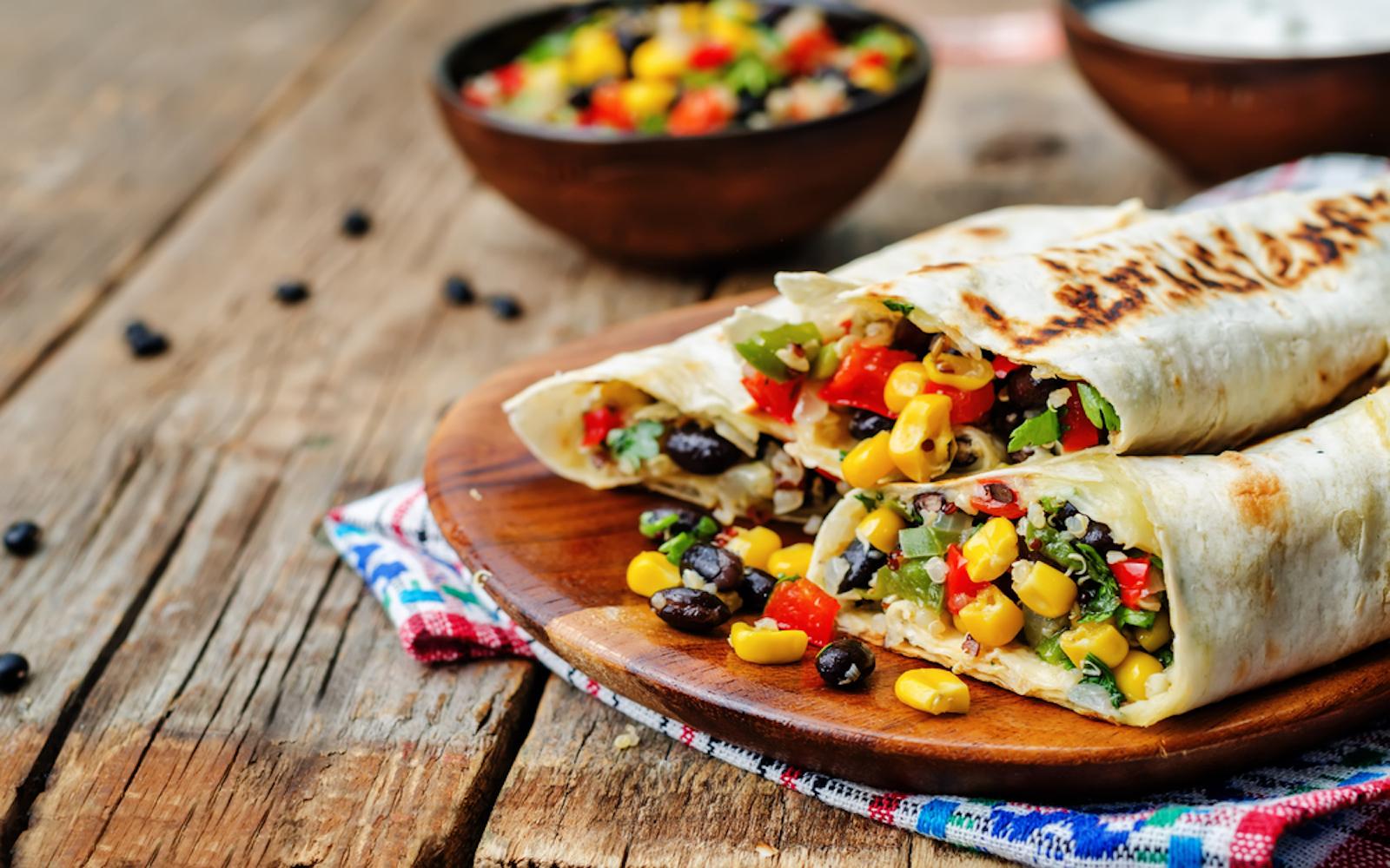 vegan burritos in the us