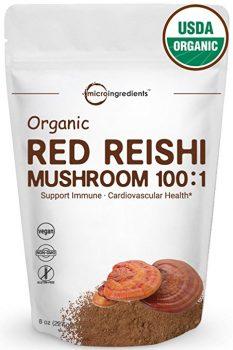 red reishi vegan mushroom powder