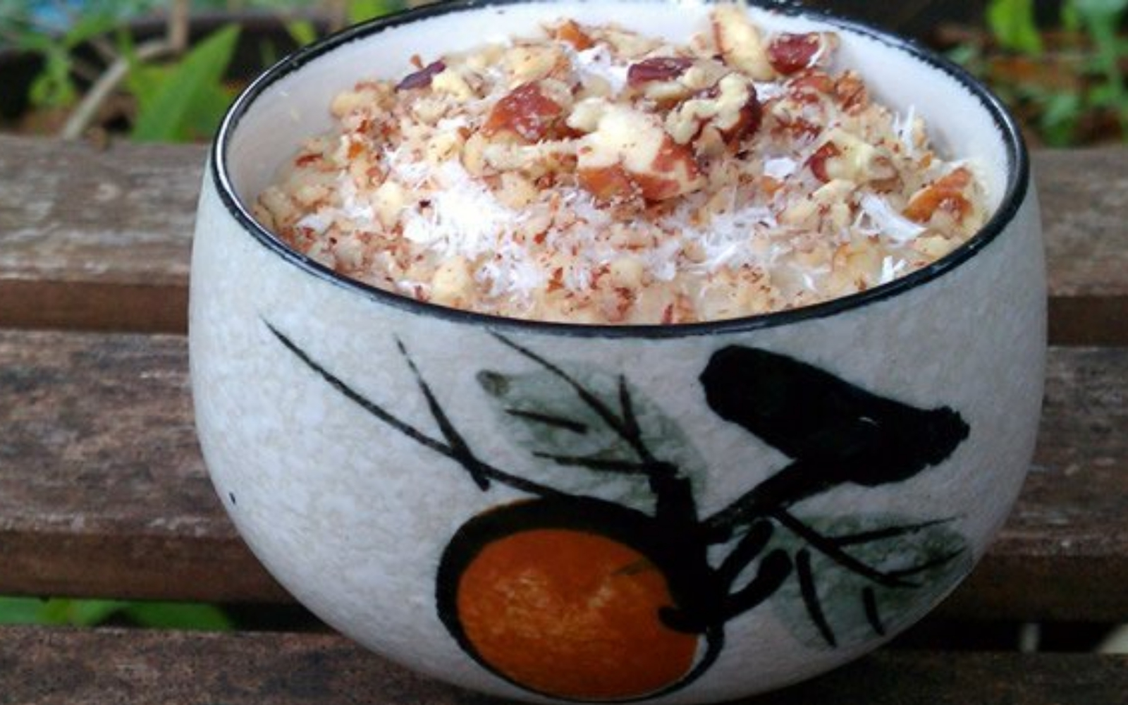 Vegan Slow Cooker Coconut Banana Pecan Oatmeal
