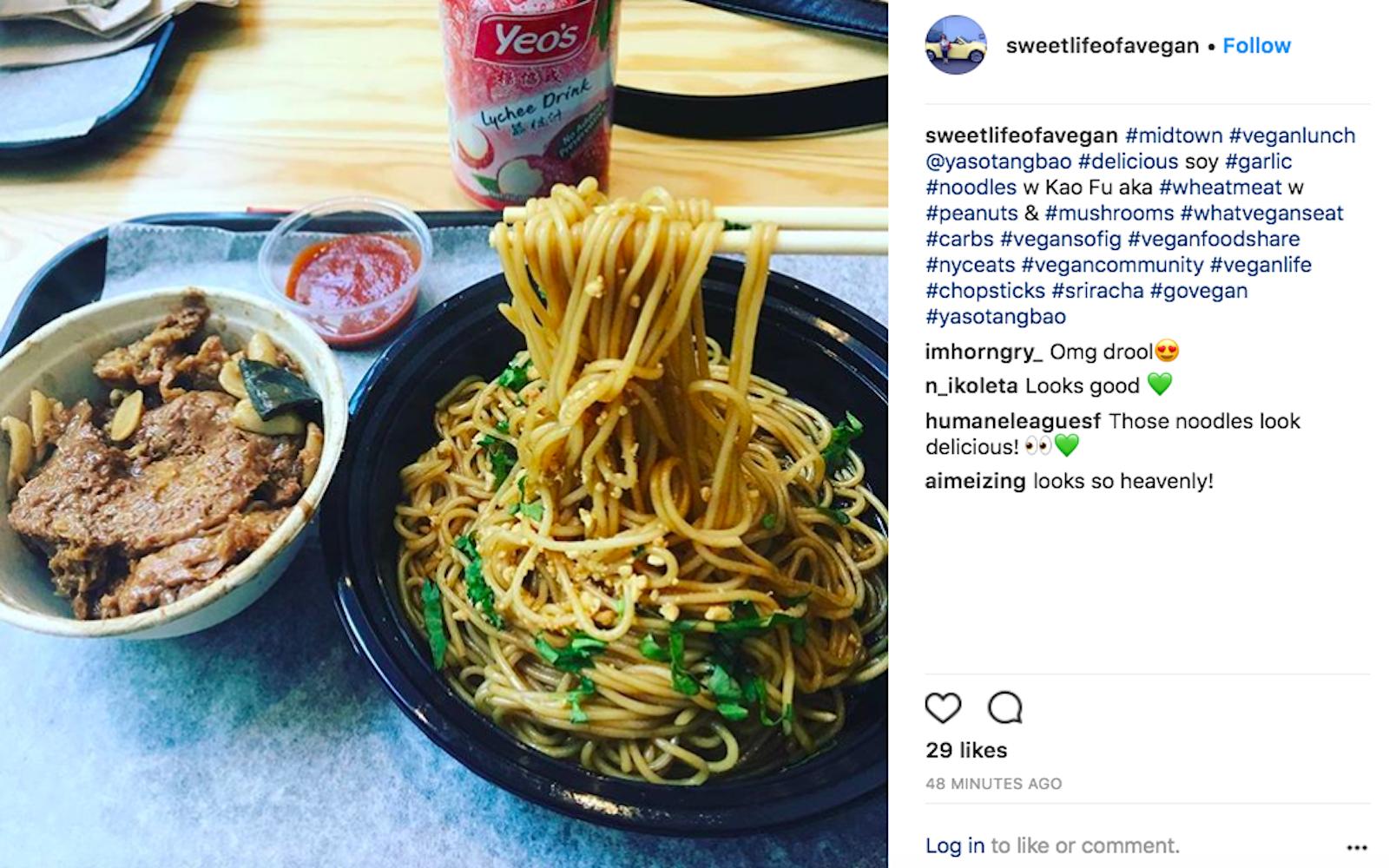 vegan garlic noodles