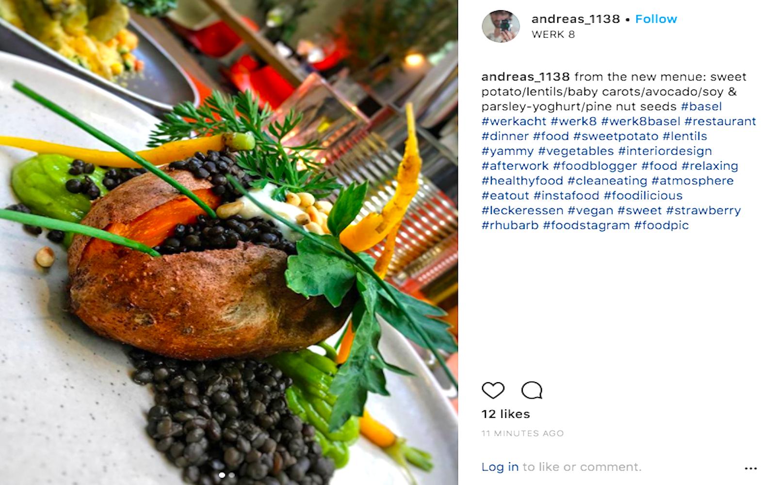 vegan sweet potato instagram photos