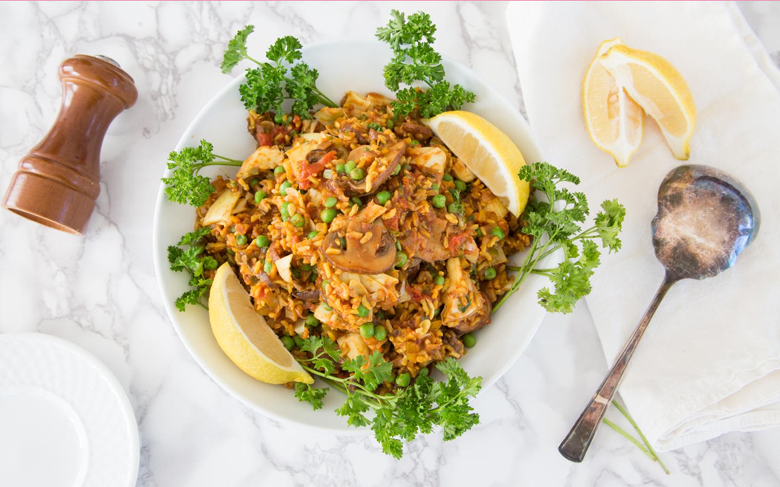 Instant pot vegan paella