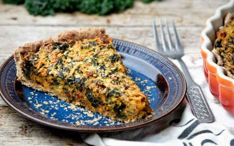 Vegan Eggless Chickpea and Kale Quiche