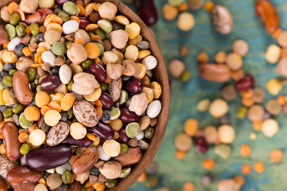 bowl of various legumes