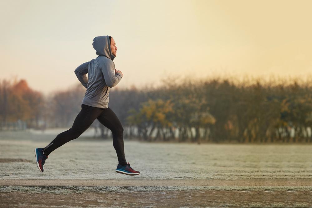 endurance athlete running