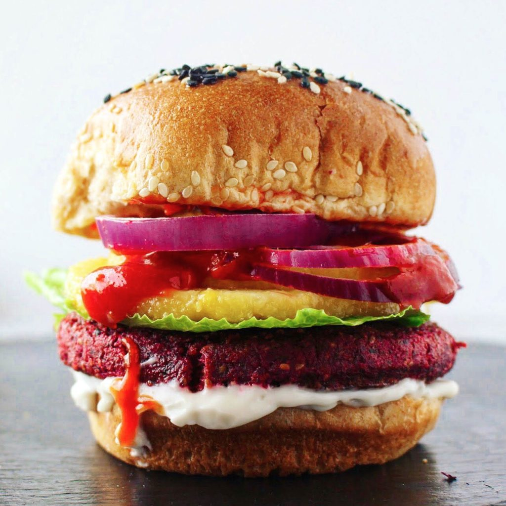 Pineapple Beet Burger