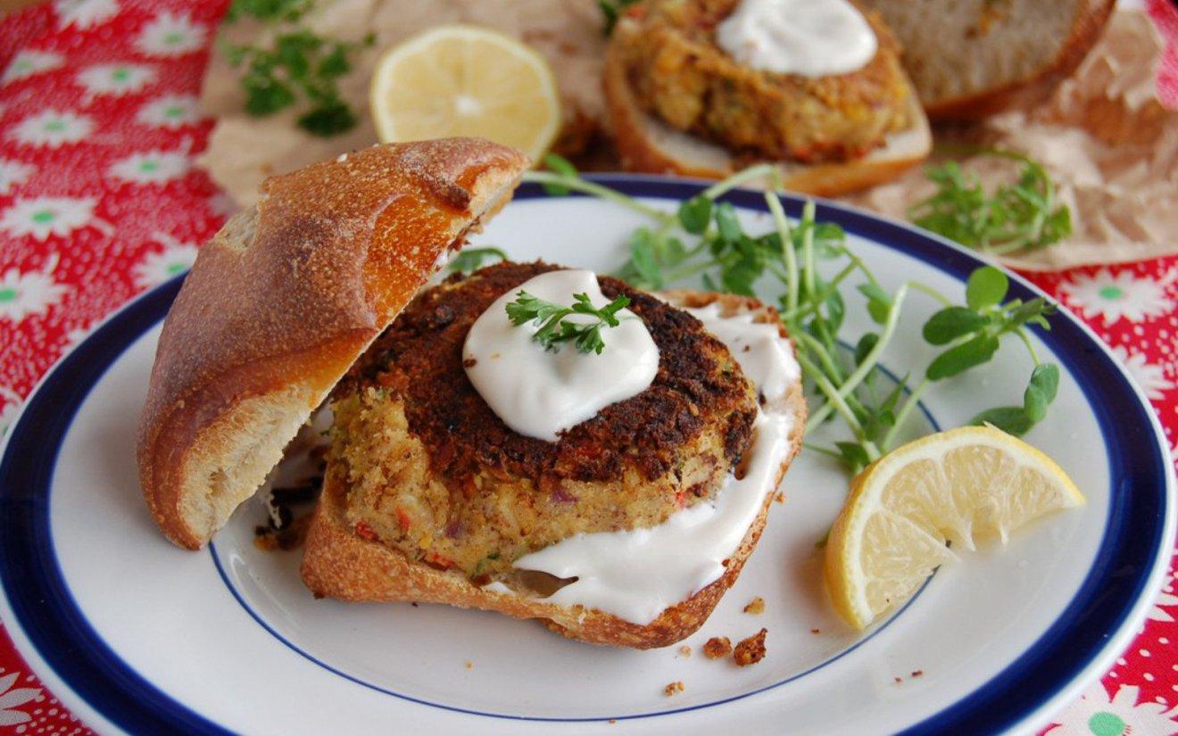 Vegan Crab Cakes With Balsamic Mayo