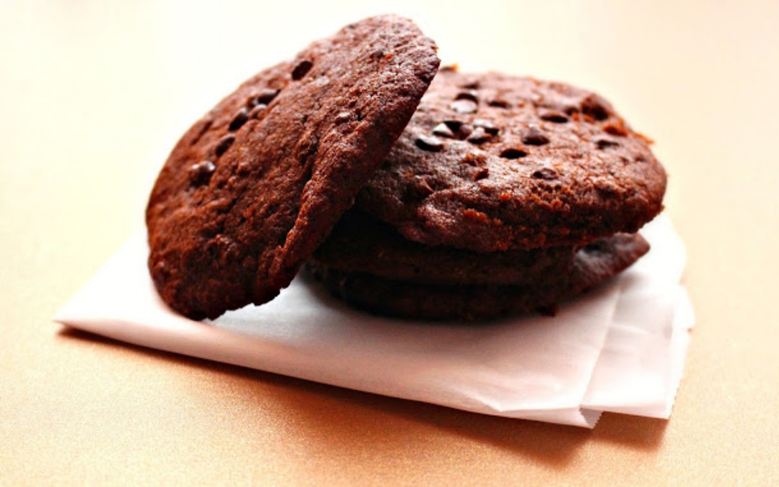 Soft baked double chocolate gingerbread cookie
