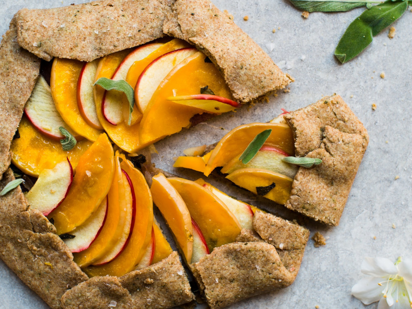 Butternut Squash and Apple Galette with Sage