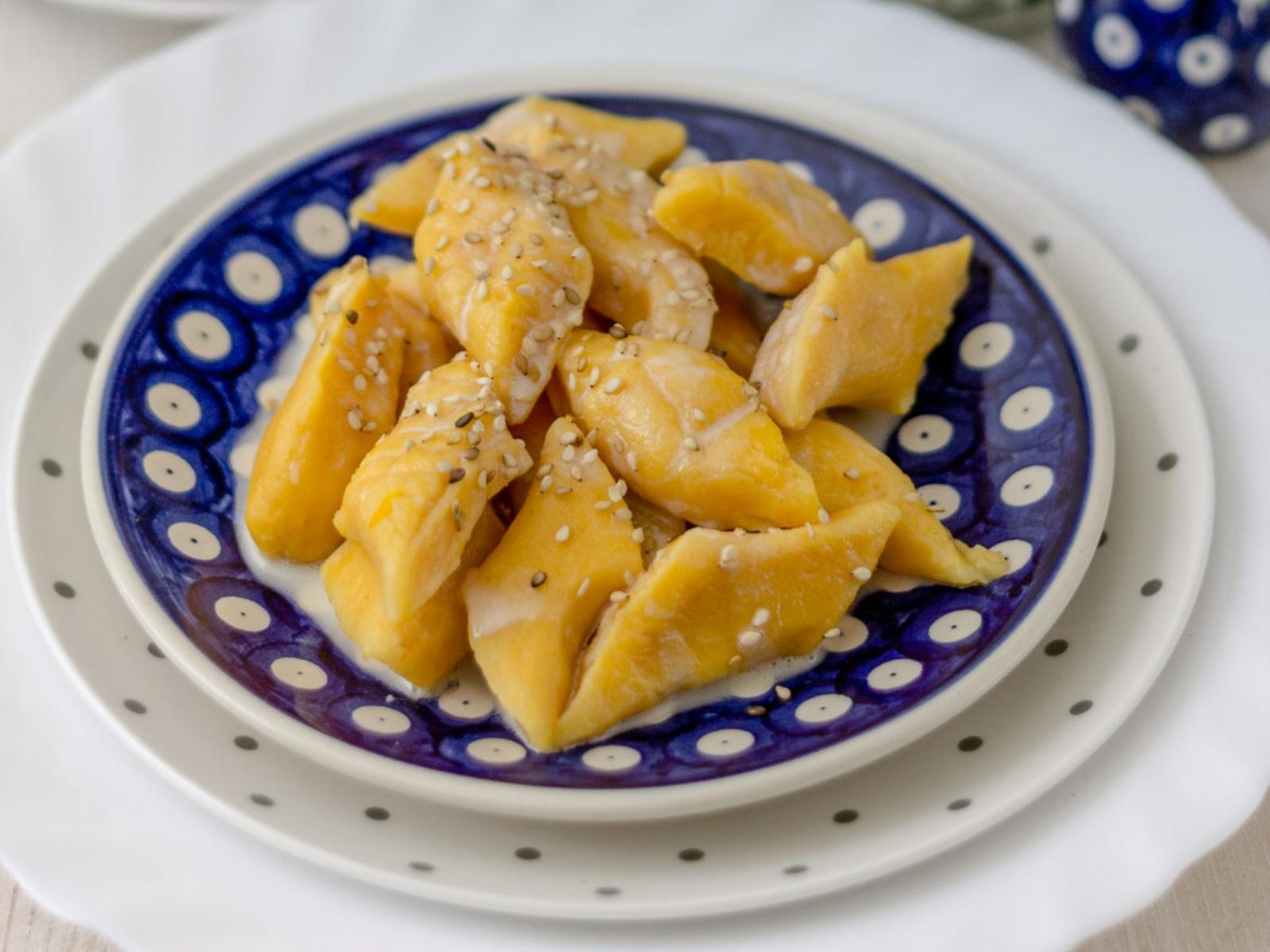 Orange Dumplings with Halva Sauce