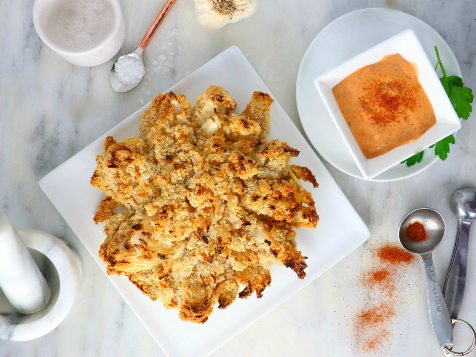 Blooming Onion with Dipping Sauce