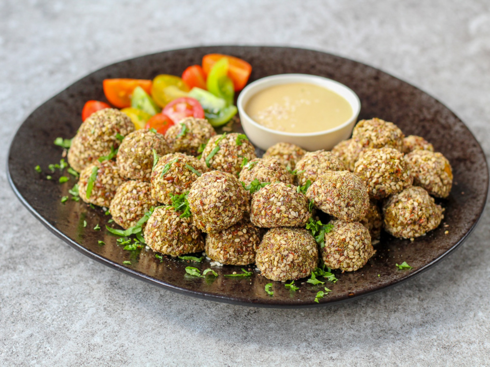 Butternut Squash Falafel With Tahini Sauce