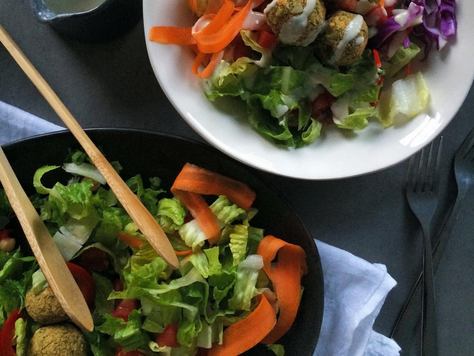 Parsley and Pepita Falafel Salad