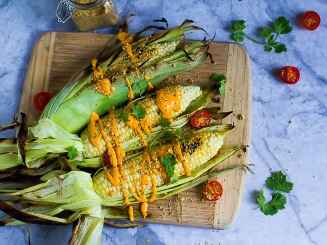Grilled Street Corn With Aji Amarillo Queso