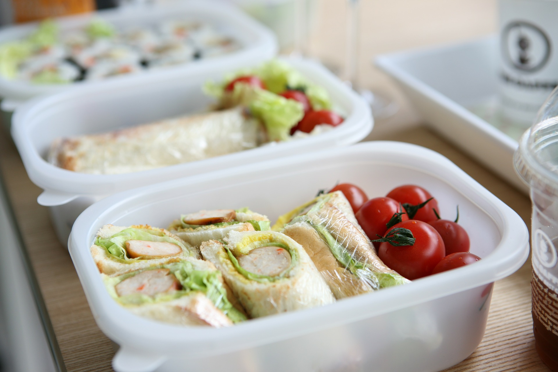 Lunch in containers