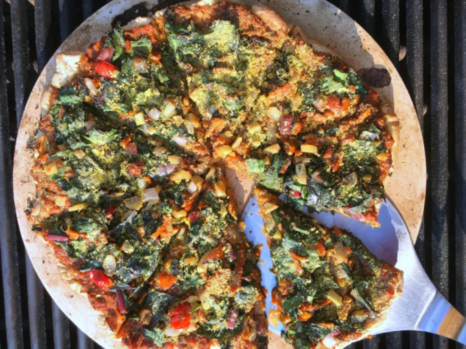 Mango Pizza on the Grill