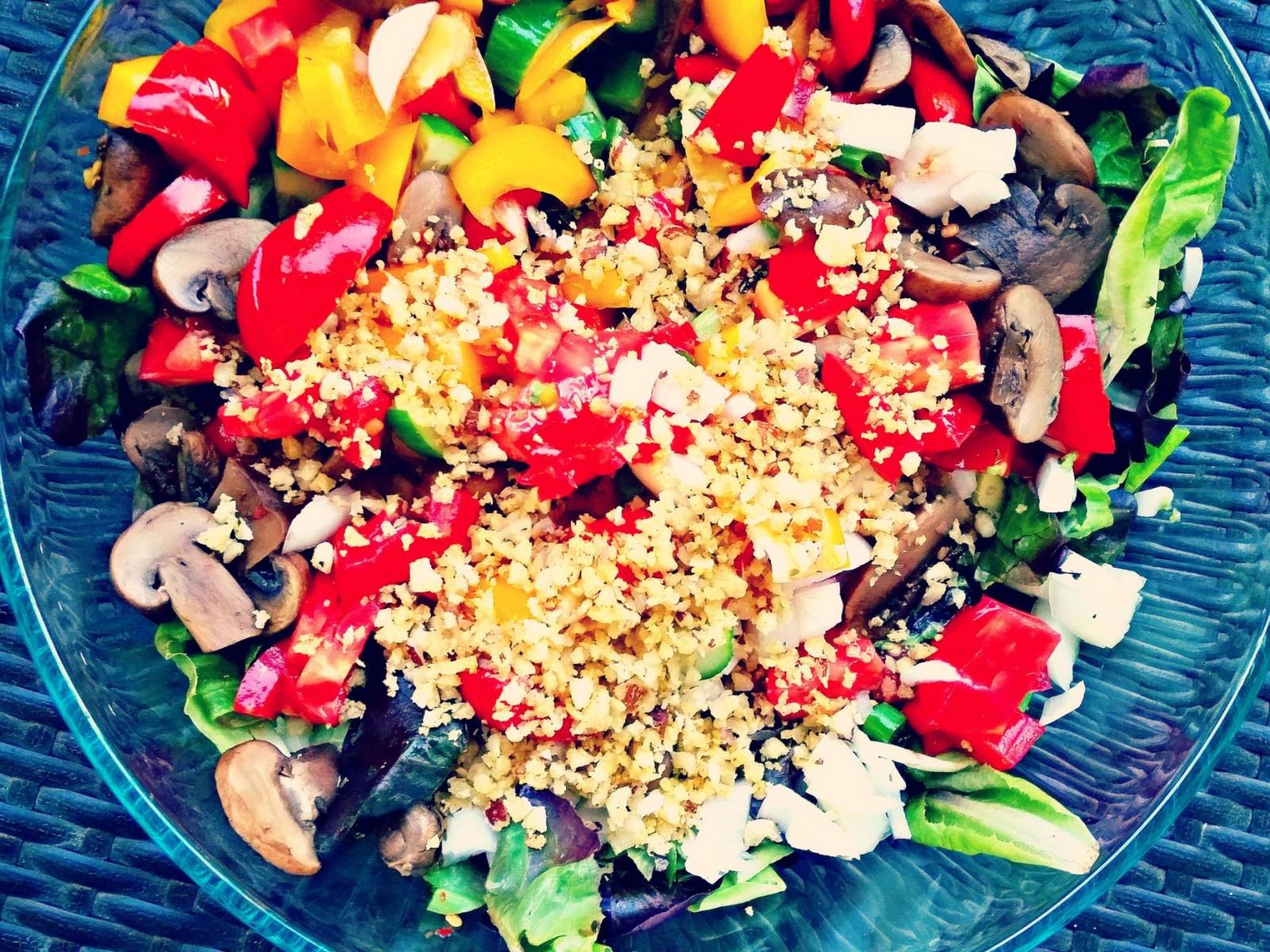 Warm Mushroom Parmesan Salad