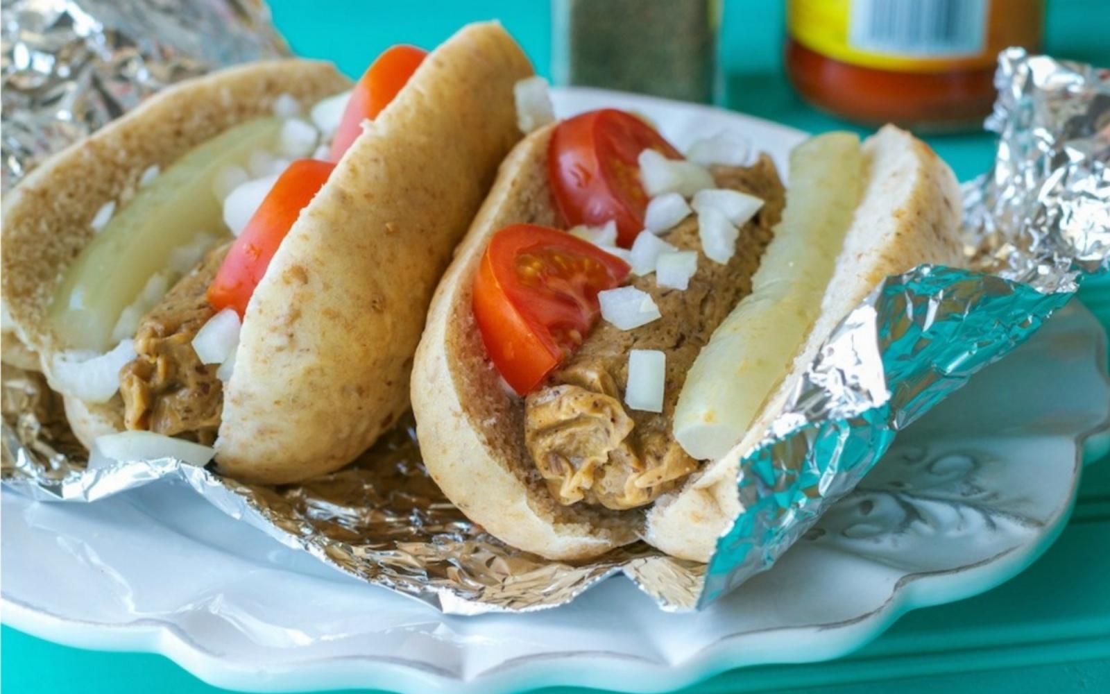 Homemade Seitan Hot Dogs