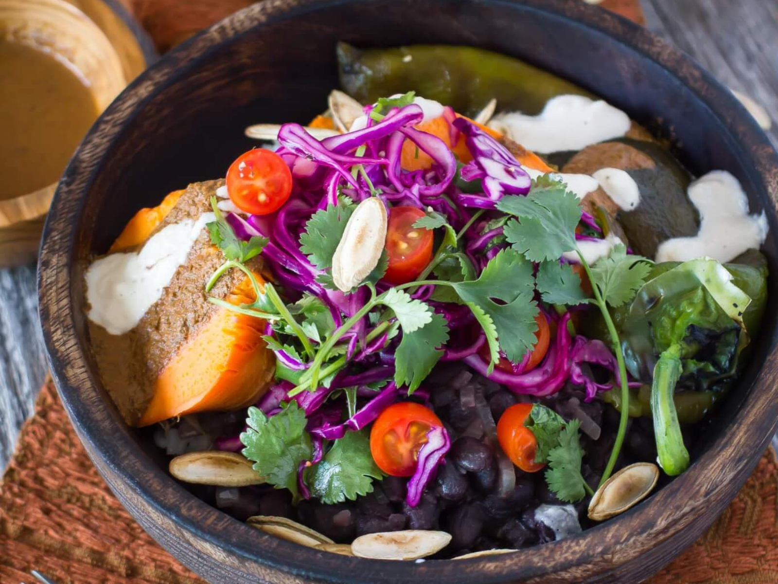 Oaxacan Buddha Bowl with Roasted Sweet Potato