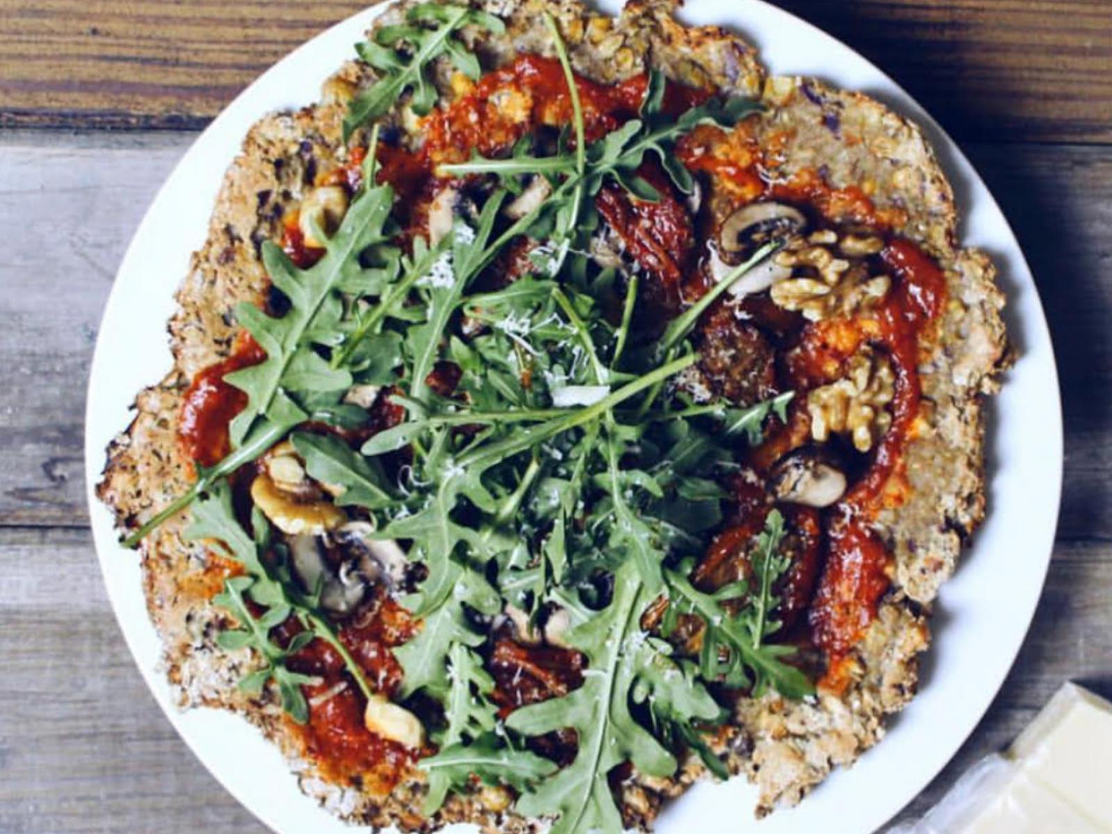 Falafel Crust Pizza