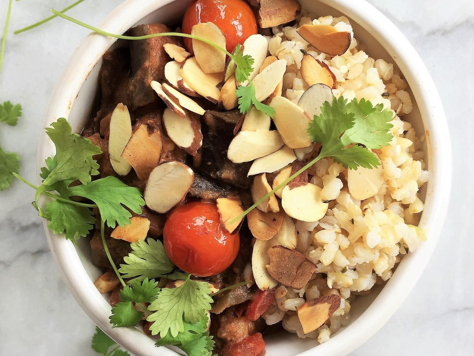 Slow Cooker Creamy Eggplant Korma