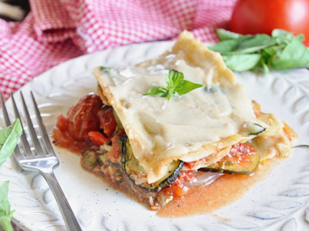 Mediterranean Roasted Vegetable Lasagna with Bechamel Sauce