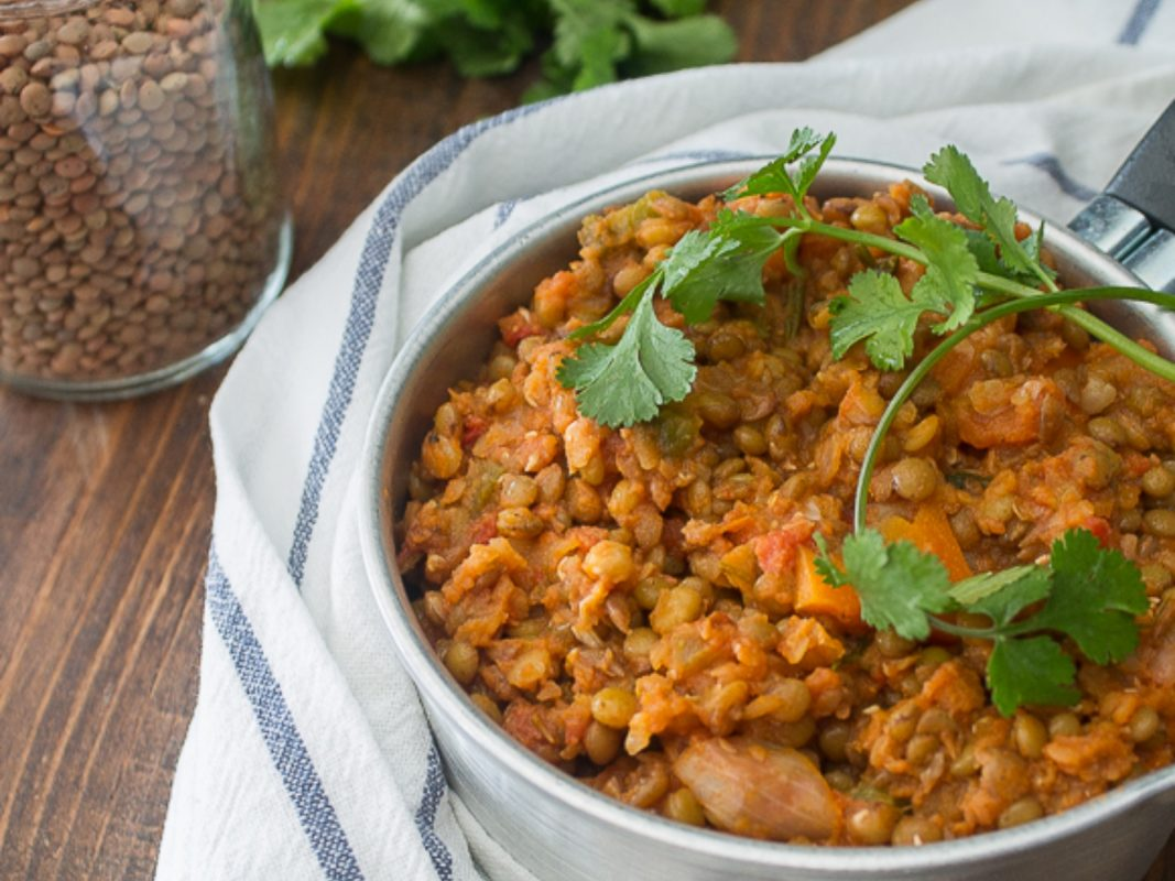 Simple Braised Lentils